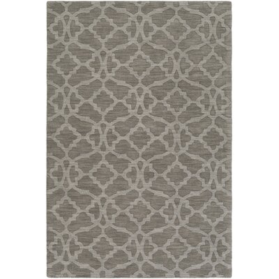 Dylan Hand-Loomed Gray Area Rug Rug Size: Rectangle 5 x 76
