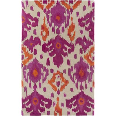 Gioia Hand-Tufted Pink/Orange Area Rug Rug Size: Rectangle 4 x 6
