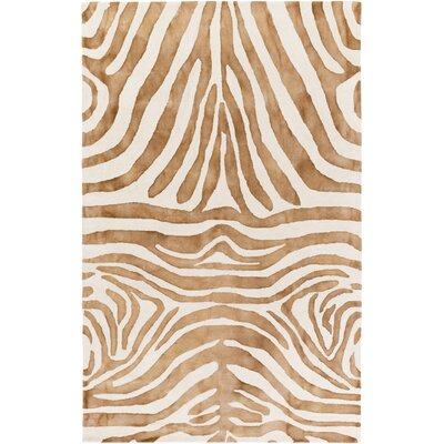 Petunia Hand-Tufted Brown Area Rug Rug Size: Rectangle 5 x 8