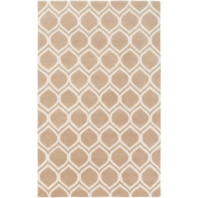 Zellner Hand-Tufted Pink/Beige Area Rug Rug Size: Rectangle 9 x 13