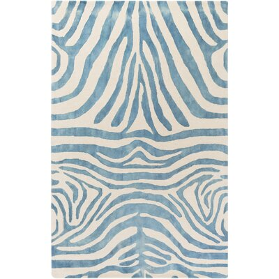 Petunia Hand-Tufted Blue Area Rug Rug Size: Rectangle 4 x 6