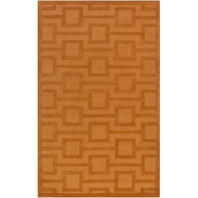 Poland Washington Hand-Tufted Tangerine Area Rug Rug Size: 4 x 6