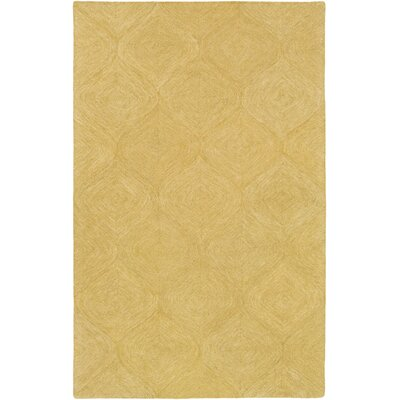 Bloch Hand-Tufted Gold Area Rug Rug Size: Rectangle 5' x 8'