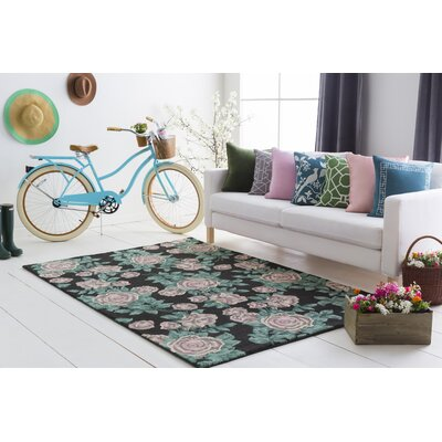 Lach Hand-Tufted Green Area Rug Rug Size: Rectangle 4 x 6