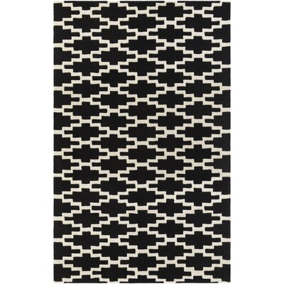 Lococo Hand-Tufted Black/Beige Area Rug Rug Size: Rectangle 4 x 6