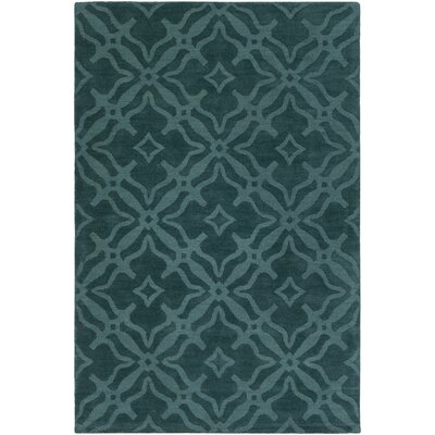 Dutchess Handmade Teal Area Rug Rug Size: Rectangle 5 x 76