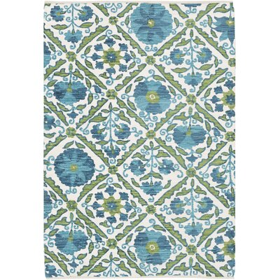 Pieniazek Hand-Woven Green Area Rug Rug Size: Rectangle 4 x 6