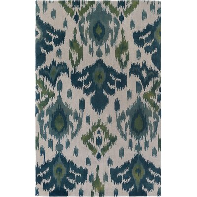 Geology Skylar Hand-Tufted Green Area Rug Rug Size: 9 x 13