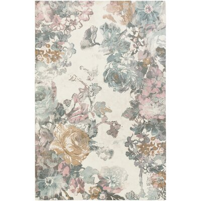Kight Gray/Pink Area Rug Rug Size: Rectangle 5 x 76