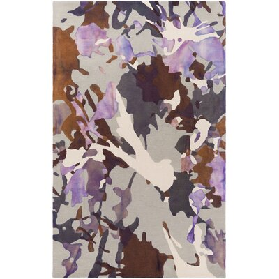 Geology Lucas Hand-Tufted Purple Area Rug Rug Size: 4 x 6