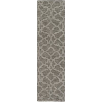 Dylan Hand-Loomed Gray Area Rug Rug Size: Runner 23 x 14