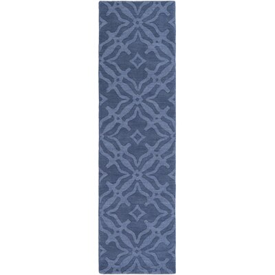 Dutchess Handmade Blue Area Rug Rug Size: Runner 23 x 14