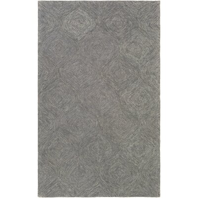 Bloch Hand-Tufted Charcoal/Gray Area Rug Rug Size: Rectangle 4 x 6