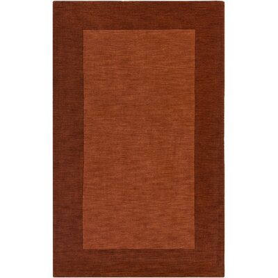 Allsopp Hand-Loomed Red Area Rug Rug Size: Rectangle 4 x 6