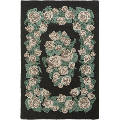 Lackey Hand-Tufted Green Area Rug Rug Size: Rectangle 9 x 13