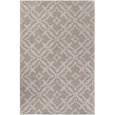 Dutchess Handmade Gray Area Rug Rug Size: Rectangle 4 x 6
