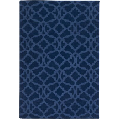 Hennings Handmade Navy Blue Area Rug Rug Size: Rectangle 5 x 76