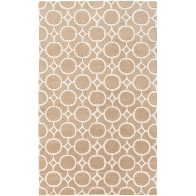 Murrow Hand-Tufted Antique Pink/Beige Area Rug Rug Size: Rectangle 5 x 8