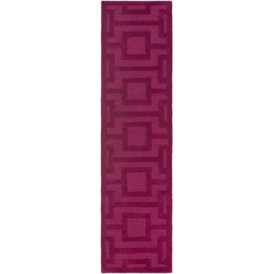 Sarai Hand-Tufted Raspberry Area Rug Rug Size: Runner 2 x 8