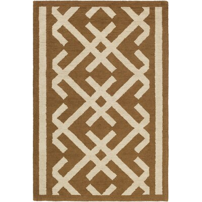 Levin Hand-Tufted Brown/Beige Area Rug Rug Size: Rectangle 76 x 96