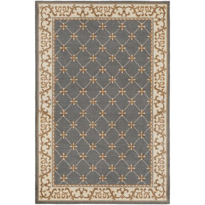 Pflugerville Gray Area Rug Rug Size: Rectangle 4 x 6