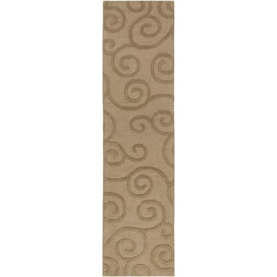 Poland Moore Hand-Tufted Camel Area Rug Rug Size: Runner 2 x 8