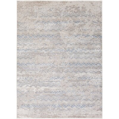 Daigre Hand-Woven Gray/Blue Area Rug Rug Size: Rectangle 711 x 103