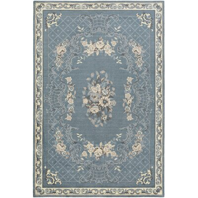 Kiger Blue Area Rug Rug Size: Rectangle 2 x 3