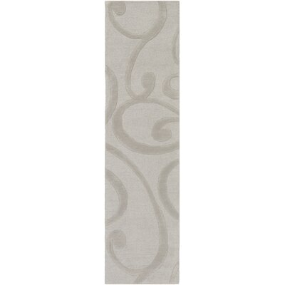 Allegro Hand-Tufted Stone Area Rug Rug Size: Runner 2 x 8