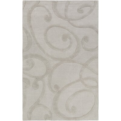 Poland Bailey Hand-Tufted Stone Area Rug Rug Size: 4 x 6