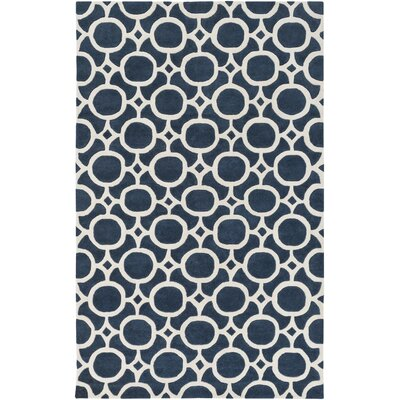 Murrow Hand-Tufted Royal Blue/Beige Area Rug Rug Size: Rectangle 4 x 6
