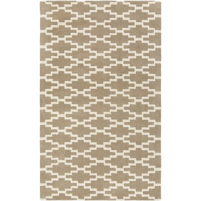 Lococo Hand-Tufted Gray/Ivory Area Rug Rug Size: Rectangle 4 x 6