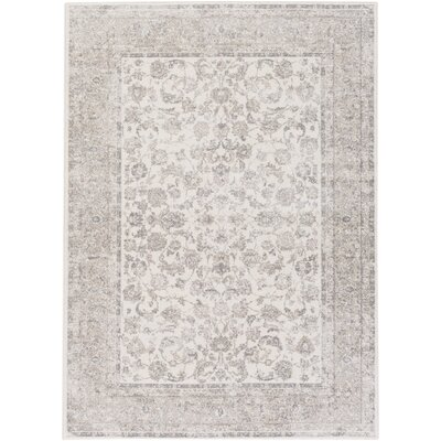 Kimbolton Hand-Woven Ivory/Gray Area Rug Rug Size: Rectangle 711 x 103