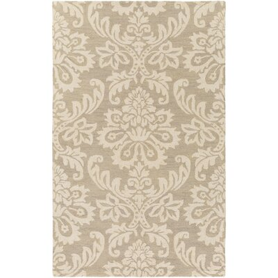Kimberlin Hand-Tufted Beige/Off-White Area Rug Rug Size: Rectangle 4 x 6