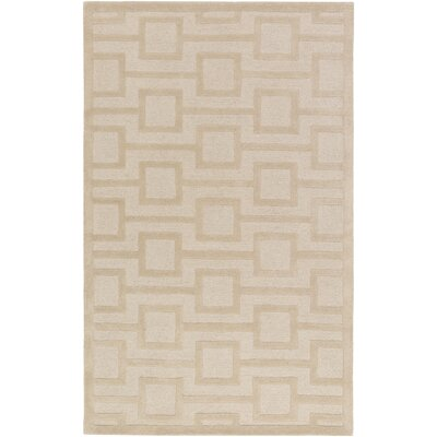 Poland Washington Hand-Tufted Beige Area Rug Rug Size: 4 x 6