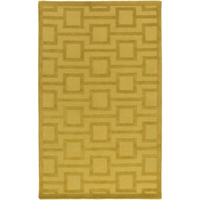 Sarai Hand-Tufted Gold Area Rug Rug Size: Rectangle 4 x 6