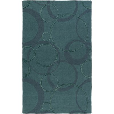 Alexander Ross Hand-Tufted Navy Area Rug Rug Size: 5 x 8