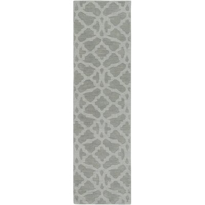 Dylan Handmade Light Gray Area Rug Rug Size: Runner 23 x 12