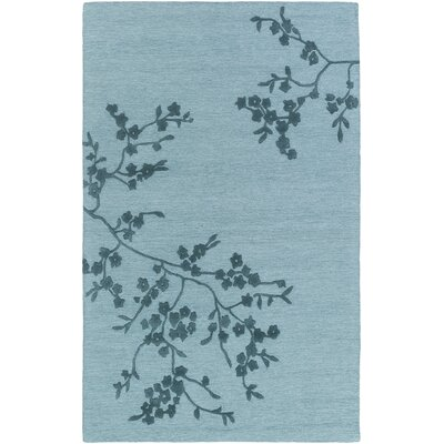 Kerney Hand-Tufted Light Blue/Navy Area Rug Rug Size: Rectangle 4 x 6