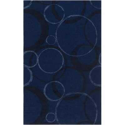 Moyes Hand-Tufted Navy Area Rug Rug Size: Rectangle 4 x 6