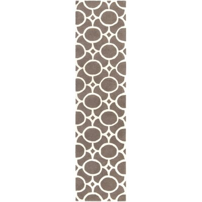 Murrow Hand-Tufted Gray/Ivory Area Rug Rug Size: Runner 2 x 8