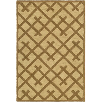 Wycoff Hand-Tufted Brown/Beige Area Rug Rug Size: Rectangle 76 x 96