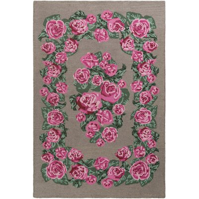 Lackey Hand-Tufted Pink Area Rug Rug Size: Rectangle 9 x 13