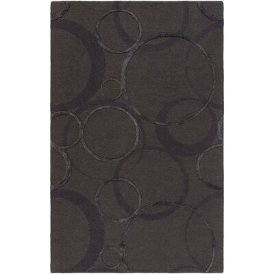 Alexander Ross Hand-Tufted Charcoal Area Rug Rug Size: 5 x 8