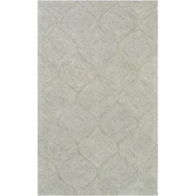 Bloch Hand-Tufted Light Gray Area Rug Rug Size: Rectangle 5 x 8