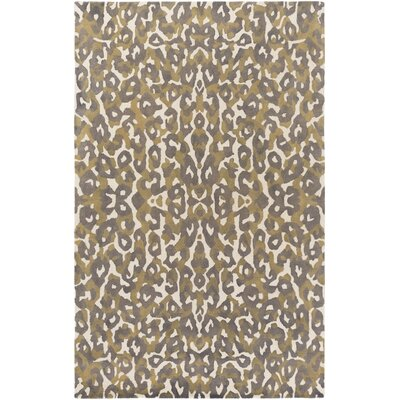 Ginter Hand-Tufted Gray/Yellow Area Rug Rug Size: Rectangle 5 x 8