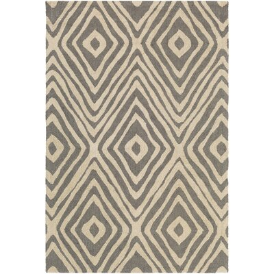Juhasz Hand-Tufted Gray/Beige Area Rug Rug Size: Rectangle 76 x 96