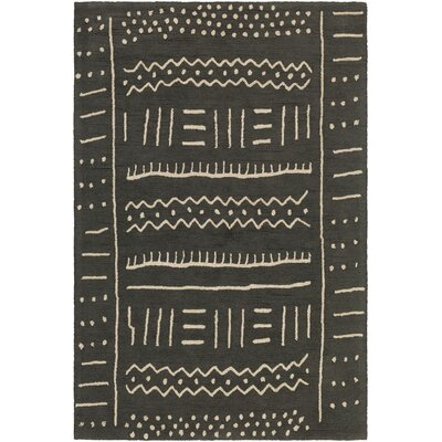 Little Neck Hand-Tufted Black/Beige Area Rug Rug Size: Rectangle 76 x 96