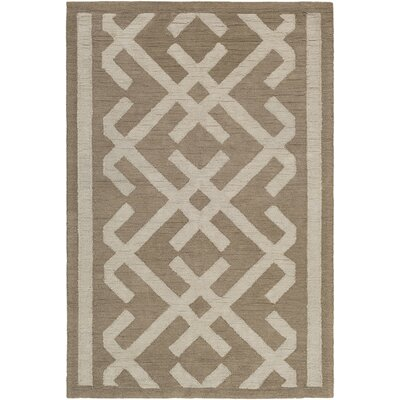 Levin Hand-Tufted Taupe/Beige Area Rug Rug Size: Rectangle 5 x 76