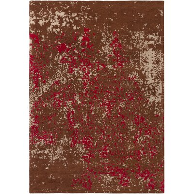 Detrick Handmade Brown/Pink Area Rug Rug Size: Rectangle 9 x 13